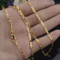 Fashion Jewelry 18K Yellow Gold Filled 2mm Chain Necklace Wedding Jewerly 16-30""