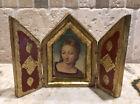 Vintage+Italian+Florentine+Virgin+Mary+Folding+Gold+Picture+Frame