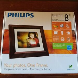 Philips 8'' Digital Photo Frame LCD Panel SPF3482/G7 LED Efficient Remote Clock