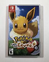 Pokémon: Let's Go, Eevee! (Nintendo Switch, 2018) Fast Free Shipping