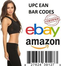 1000 UPC EAN Codes Certified Numbers Barcodes Amazon Ebay Lifetime Guarantee