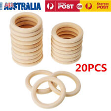 20pcs/lot Wood Rings 55mm Unfinished Wooden Rings DIY Teething Ring AU Stock
