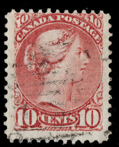 #45a Small Queen 10c Canada used well centered