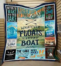 Your Boat and Lake Blankets for Outdoor Lovers Quilt Blanket, Fleece Blanket