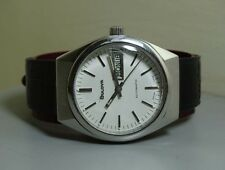 Vintage Bulova AUTOMATIC DAY DATE Swiss Made Wrist Watch E120 Old Used Antique