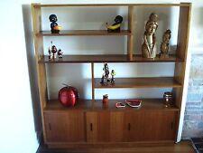 Retro Bookcase, Room Divider, Display Mid- Century 70's Vintage Bookshelf