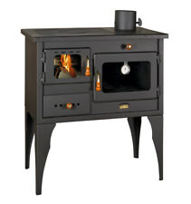 Wood Burning Cooking Stove Cast Iron Top Plate 10 kW Log Burner Oven fireplace