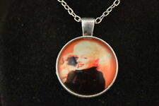 MARILYN MONROE with DOG Cabochon PENDANT -  NECKLACE  New!  Jewelry  USA SELLER!