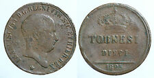 pci0074) Napoli Regno delle Due Sicilie Francesco I tornesi 10 1825