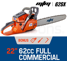 "Premium 62cc E-Start Petrol Commercial Chainsaw 22"" Bar Tree Pruning Chain Saw"