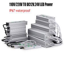 LED Fuente de alimentación IP67 AC110V/220V a DC12V 24V LED Driver Transformers