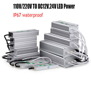 LED Power Supply IP67 Waterproof AC110V/220V to DC12V 24V LED Driver Transformer