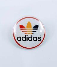 "VINTAGE adidas PINBACK - TREFOIL RASTA LOGO - RED, BLACK, GREEN & WHITE - 1"""