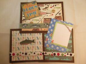 FISHING PAPER PIECING SCRAPBOOK MATS