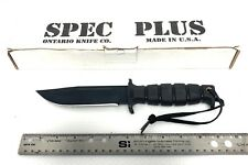 NEW SPEC PLUS SP-17 SURVIVAL/COMBAT FIXED BLADE KNIFE MADE IN USA NOS OLD STOCK