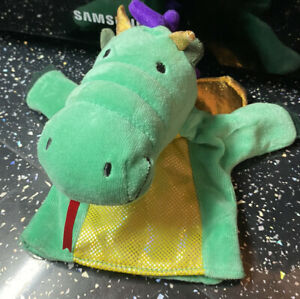 Manhattan Toy Dragon Hand Puppet Green & Purple