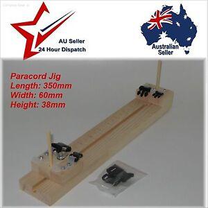 Wooden Paracord Bracelet Jig Tool for making para cord bracelets etc wood timber