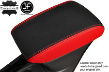 BLACK & RED LEATHER ARMREST COVER FITS VAUXHALL OPEL ASTRA K MK7 2016+