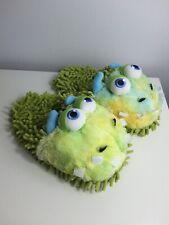Aroma Home Fuzzy amigos peludos Microfibra Forro Monstruo Verde Zapatillas, un tamaño