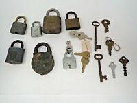 Vintage Set of 7 Padlocks and 10 Keys Stability Yale Junior Master 140