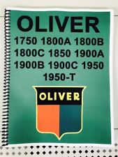 1800 Oliver Tractor Technical Service Shop Repair Manual