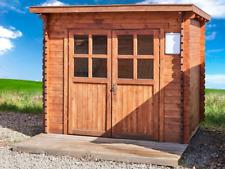 Gartenhaus 28mm 250x220 cm 2,5x2,2m Gerätehaus Schuppen Blockhaus inkl. Fußboden