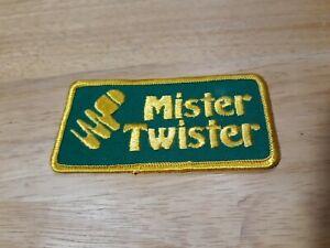 Vintage Mister Twister Fishing Lures Jacket Patch Badge Fish Angler Fisherman