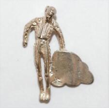 New listing Vintage Spanish Matador Holding Cape Sterling Silver Bracelet Charm (1.9g)