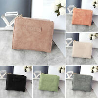 6 Colors Women Vintage Small Short PU Leather Wallet Mini Female Wallets Purse t