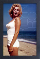 MARILYN MONROE OCEAN BLUE 13x19 FRAMED GELCOAT POSTER ICONIC MODEL BEAUTIFUL NEW