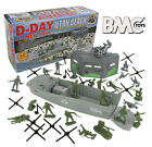 BMC WW2 D-DAY Plastic Army Men UTAH BEACH 40pc Soldier Figure 1:32 54mm Playset