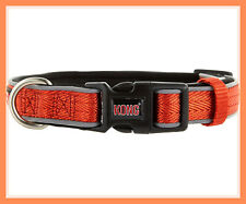 KONG Padded Comfort Reflective Orange Weave Dog Collar S