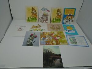 Vintage Current Get Well Cards - 13 Cards And No Envelopes