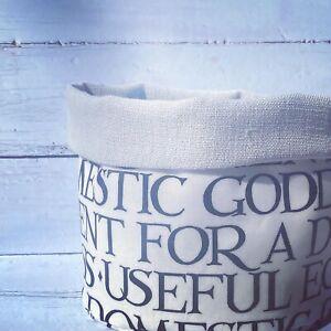 Emma Bridgewater Black Toast Fabric Storage Basket - Made In Cornwall- Oilcloth