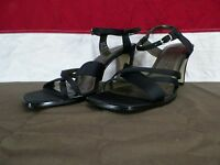 Sam & Libby Heels Stiletto Strappy Shoes Black Women's Size 9.5M