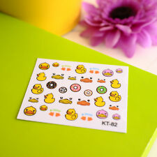 New Cute Pro 3D Cartoon Duck Decal Women Stickers Nail Art Manicure Tips DIY