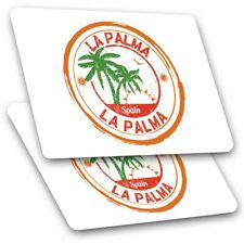 2 x Rectangle Stickers 7.5 cm - La Palma Spain Espana Palm Trees Cool Gift #6101