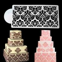 Baking Tools Side Decor Mould Damask Lace Flower Border Fondant Cakes Stencil