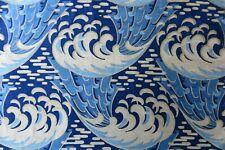 """KRAVAT CURTAIN/UPHOLSTERY FABRIC DESIGN """"Kaiyou"""" 10 METRES INDIGO/BLUE VELVET"""