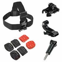 Head Strap Helmet Mount Accessories Kit For GoPro Hero 3 3+ 4 5 6 7 Session 4Pcs