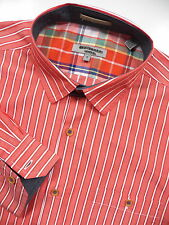 TED BAKER LONDON MENS NWOT 5 XL DRESS SPORT SHIRT STYLISH ORANGE WHITE STRIPE
