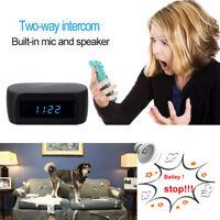 HD 1080P Wireless Wifi Spy Hidden Camera Clock Home Security Nanny Night Vision