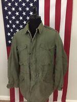 vtg M-1951 Field Jacket men's Medium Long ML 1953 us army korean war era 1c32