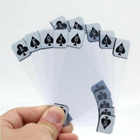 Novelty Transparent Clear Plastic PVC Magic Poker Waterproof Playing Cards