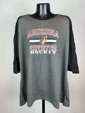 Women's NHL Phoenix Coyotes Dark Gray & Black Graphic Logo 3/4 Sleeve Shirt 3XL