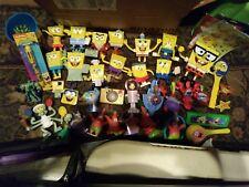SPONGEBOB FIGURES toys cup pen stickers ring music etc ~ lot of 41