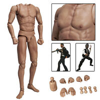"""WorldBox AT020 1/6 Male Flexible Figure Body Model For 12"""" Hot Toys Head Sculpt"""