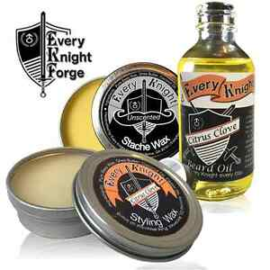 Every Knight Beard & Mustache Conditioning/Grooming Kit for Men (Made in USA)