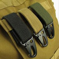 Nylon Tactical Molle Hanging Belt Carabiner Key Hook Strap Clip Sport Hiking
