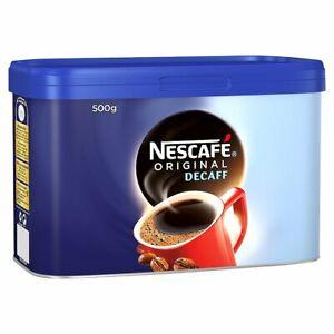 Nescafé Original Decaff Instant Coffee Tin 500g -Tracked service-